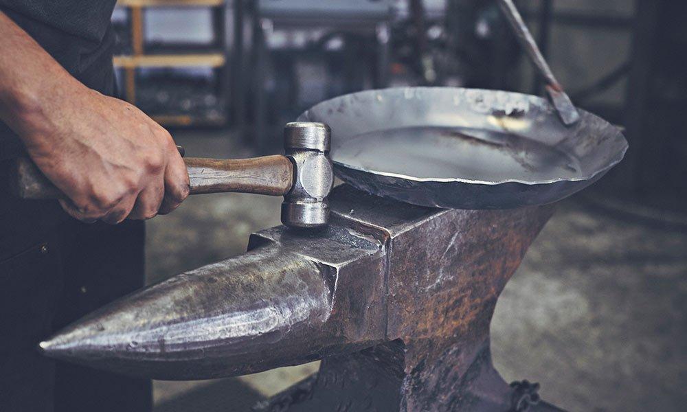 blue skillet ironware