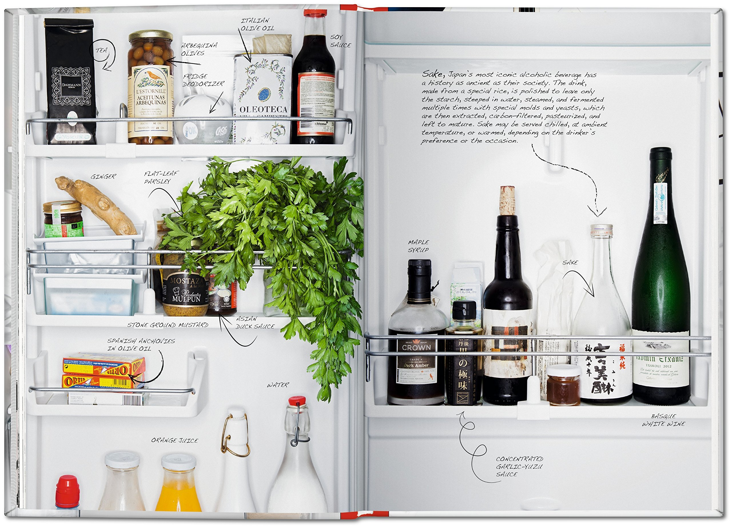 Inside a chefs fridge